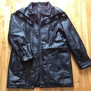 Black leather jacket - size 10